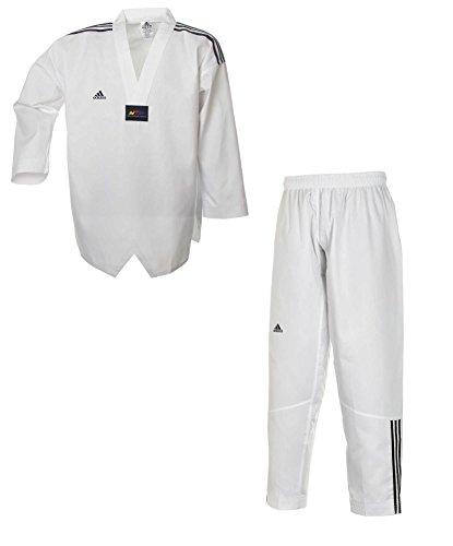 adidas Taekwondoanzug, Adi Club 3 stripes, weißes Revers T/200 cm