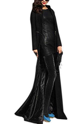 Longues Manteau Costume Trench Taille Slim Outerwear Grande Longues Coat Femme Elgante Parka Hiver Amovibles Mode Fit Hiver Noir Dcontract Manches Unique 0fdqU0