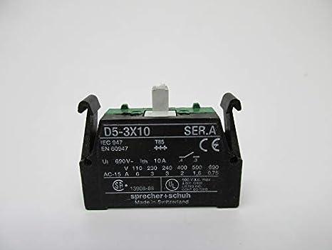 max Sprecher /& Schuh D5-3X10 Ser.A Contact Block  600V a.c