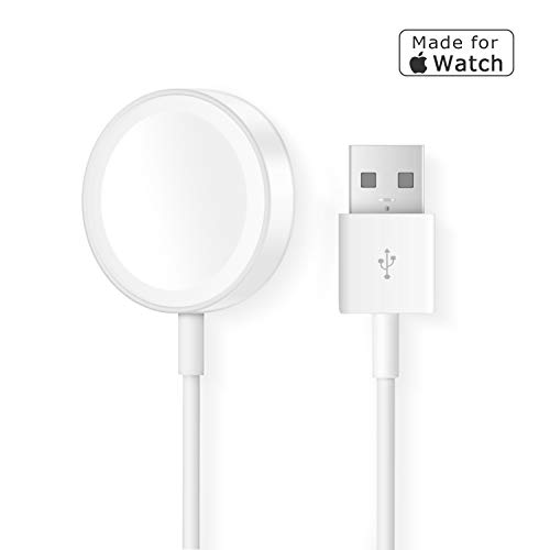 Apple Watch Charger, iWatch Charger Replacement Charging Cable,Magnetic Wireless Portable Charger Pad 3.3 ft/1.0m Charging Cable Cord Compatible with Apple Watch Series 3 2 1 for All 38mm 42mm iWatch by VEPOWER