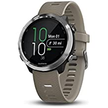 Garmin Forerunner 645, GPS Running Watch with Garmin Pay contactless payments and Wrist-Based Heart Rate, Sandstone Colored Band, 010-01863-01