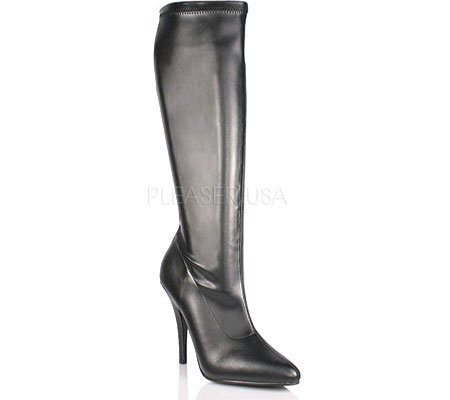 Knee Boot 2000 Pleaser Seduce Pu Women's High Black qwP1t6AB1
