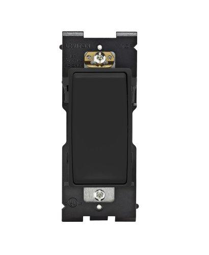 Leviton RE151-OB Renu Switch for Single Pole Applications, 15A-120/277VAC, Onyx (15a Single Pole Switch)