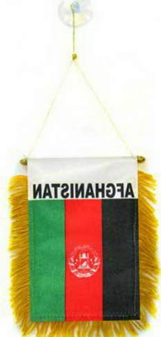 florance jones ghanistan Mini Flag 4x6 Window Banner w/Suction Cup | Model FLG - -