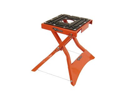 Bike Folding Stand (Pit Posse PP2713O Folding X Lift Stand Orange Dirt Bike Motocross)