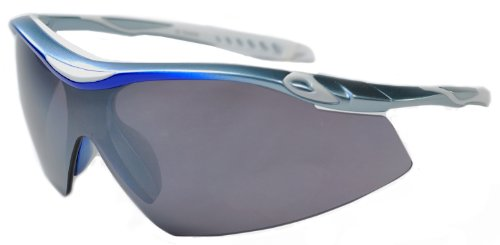 JiMarti TR22 Sport Wrap TR90 Sunglasses UV400 Unbreakable Protection for Cycling, Ski or Golf (Sky Blue & - Sunglasses Rally