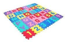 ABC Alphabet Letters and Numbers Puzzle Play&Flooring Mat Interlocking 36 Tiles EVA Foam for Children &Kids (Educational, Safe, and Durable EVA Foam Puzzle Mat)