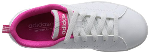 Blanc White footwear White Mixte Cl 5 Shocking footwear Vs Baskets Advantage Enfant pink Blanc 4 K Adidas Pqv6gTx