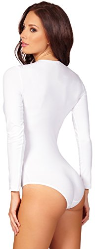 Lingerie Merry Style Underwear Bianco Donna Sexy Sleeves Long Body Bd900 awUwqx4XA