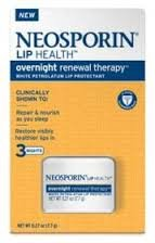 Neosporin Overnight Lip Health Renewal Therapy 0.27 Ounce Jar (8ml)pack of 4