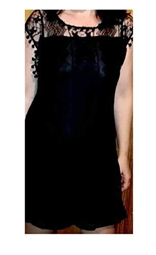 Summer Dress New Women Casual Beach Short Dress Tassel Black White Mini Lace Dress Sexy Party Dresses Ve -