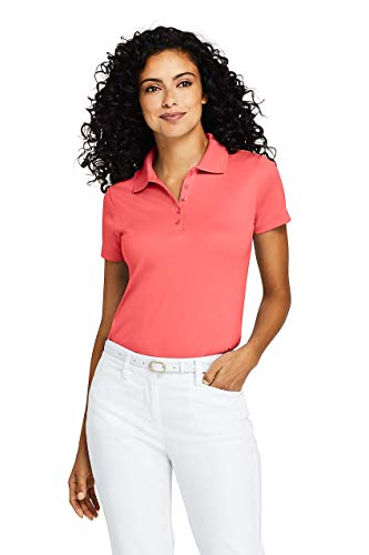 - Lands' End Women's Supima Cotton Polo Shirt Short Sleeve, S, Coral Fusion
