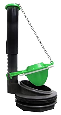Keeney K835-10 3-Inch Toilet Flush Valve Fits American Standard, Kohler, Eljer or Any Flush Valve with Similar Thread Size, Grey, Green