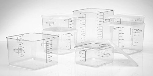Large Product Image of Rubbermaid Commercial Carb-X Space Saving Square Food Storage Container, 12-Quart, Clear (FG631200CLR)