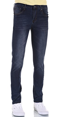 Low Rise Stretch Blue Jeans - 8