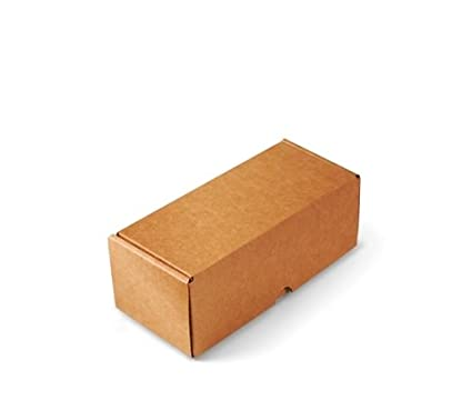 Selfpackaging Caja para envíos Alargada en microcanal Color Kraft Muy Resistente. Envia Botellas. Pack