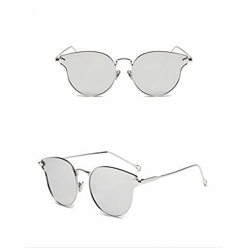 74043fd516 Gafas de Sol de la Manera Metal Gafas de Sol Simples Unisex Bloques de Plata  de