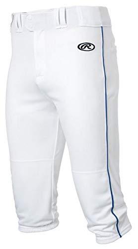 Rawlings YLNCHKPP-W/R-91, White/Royal, (Polyester Youth Baseball Jersey)