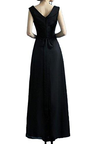 Glamour Uva Dell'impero Scollo Sera Doppio Abito V Avril Chiffon A Vestito Da Scura Del Partito Convenzionale 56qAHA
