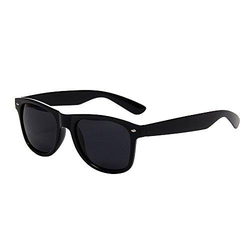 Shiratori Classic 80's Vintage Style Design Polarized Sunglasses (black, ()