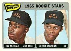 1965 Topps Regular (Baseball) Card# 16 Joe Morgan/Sonny Jackson of the Houston Astros VGX Condition ()