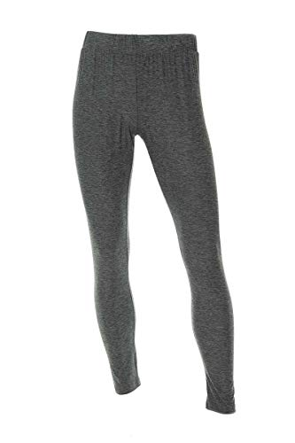Neovic Mens Athleisure Ultra Soft Knit Yoga Pants Base Layer Casual Solid Leggings - Charcoal Chambray - Small