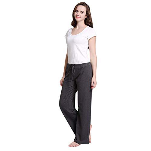 BBZUI Casual Womens Casual Stretch Cotton Pajama Pants Simple Sport Yoga Trousers 2PC Pants Fashion 2019 (Gray, - Thai Cotton Dragon Pants Yoga