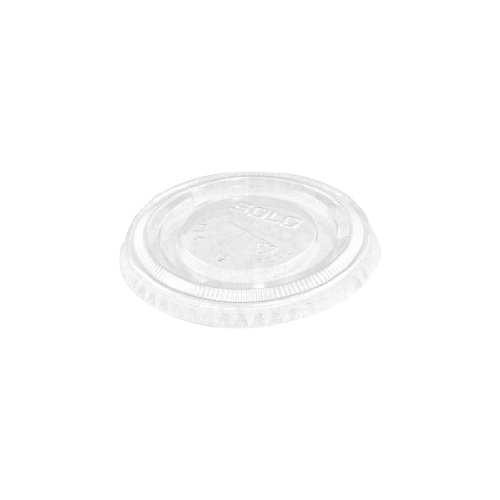 Solo PL4TSN PETE Flat Lid for Cold Cup, Straw Slots, 3-3/...
