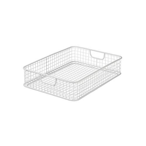 Design Ideas Gridlock Desk Collection (White, Letter - Rectangular Basket Collection
