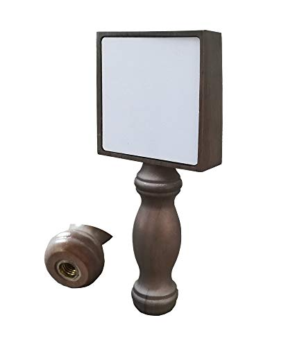FixtureDisplays Wooden Beer Tap Handle with Two Small White Chalkboard 14002-SNL Listing! ()
