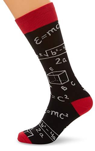 Socksmith Mens Novelty Crew Socks Math,Black,One Size