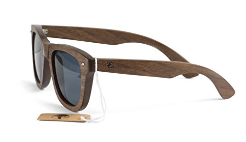 Real Solid Handmade Wooden Sunglasses for Men, Polarized Lenses with Gift Box - Glasses Wooden