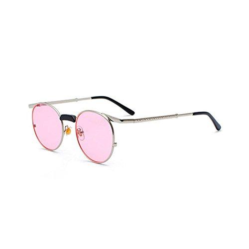 hibote rétro petit rond lunettes de soleil hommes mâle Vintage Steampunk Sunglass C9 aWAtC