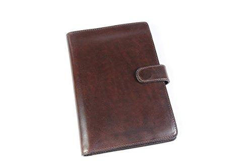 Vachetta Padfolio Writing Journal w/Tablet Sleeve (Walnut) by Borlino