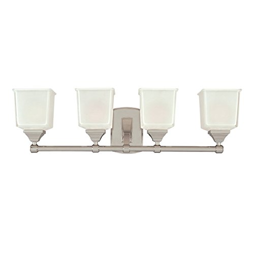 Hudson Valley Lighting Lakeland 4-Light Vanity Light - Polished Chrome Finish with Clear/Frosted Glass Shade