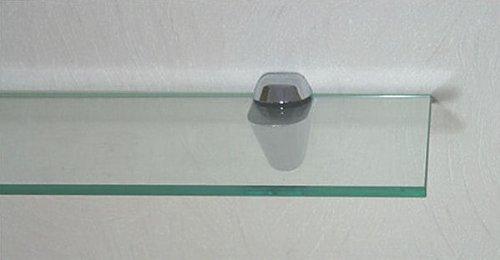 Set: Glasregal 50x30 cm / 8 mm Klarglas mit Clip XL blau / Glasablage Regale4You