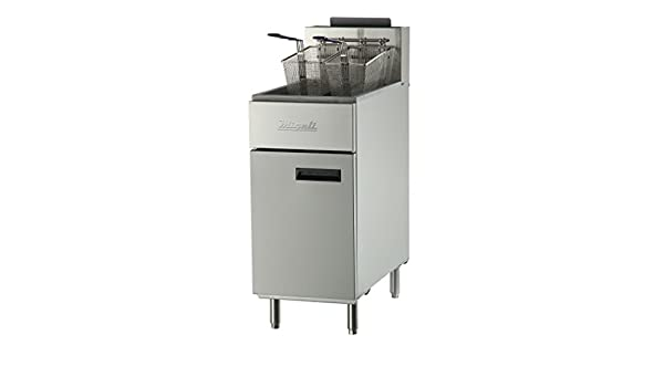 Amazon.com: Migali C-F40-LP Competitor Series Fryer, Liquid Propane Gas, Floor Model, 15.6