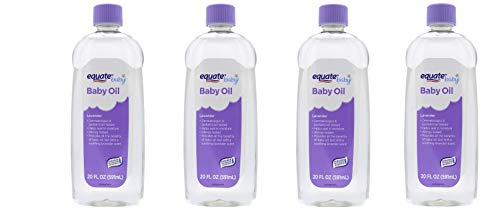 4 Pcs - Baby Oil, Lavender, 20 Fl Oz - Dermatologist And Pediatrician Tested, Helps Seal In Moisture And Prevent dry skin, Allergy tested