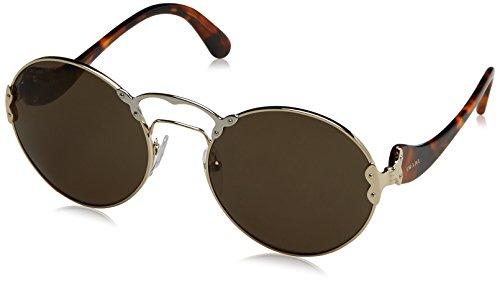 Prada Women's 0PR 55TS Pale Gold/Silver/Green Sunglasses, 57mm by Prada