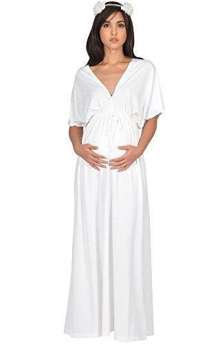 481e28d305ba KOH KOH Plus Size Womens Long Maternity Comfortable Kimono Sleeve V ...
