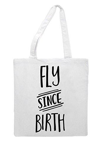 Fly Tote Since Bag Birth Shopper White zrWnHzqEw