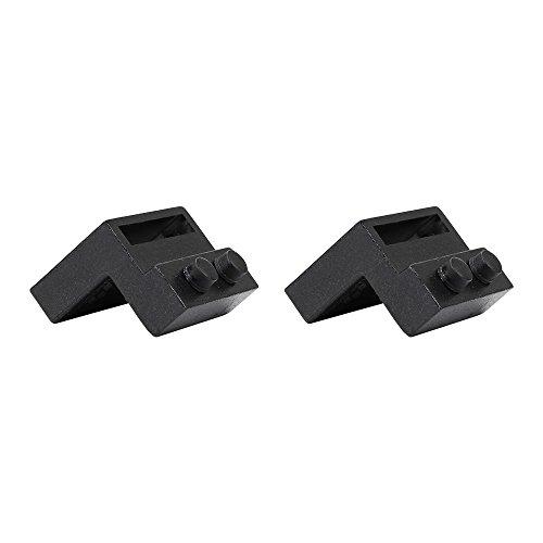HomeDeco Hardware Black Steel Stopper Limit Device For Sliding Barn on