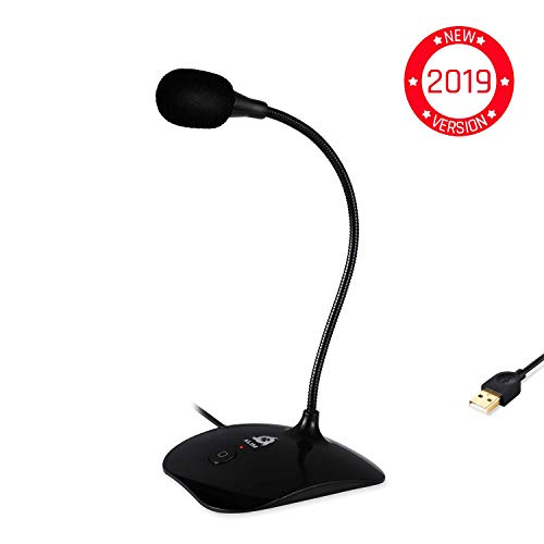 - ⭐️KLIM Talk - USB Desk Microphone for Computer - Compatible with any PC, Laptop, Mac, PS4 - Professional Desktop Mic with Stand - Recording, Gaming, Streaming, YouTube, Podcast Mics, Studio Microfono