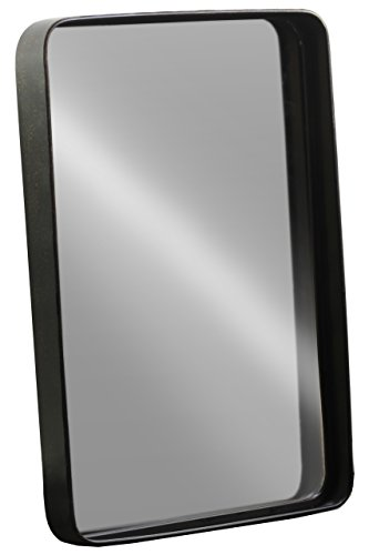 Urban Trends Metal Rectangular Wall Mirror Tarnished Finish Antique, Brown - Urban Living Collection Mirror