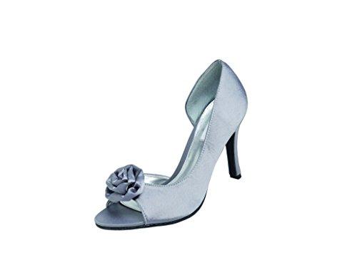 LEXUS Z094 - FELICITY - Zapatos de vestir de Satén para mujer Gris - gris