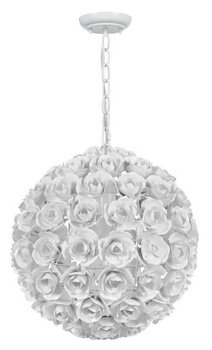 Crystorama 537-WW Leaf, Flower, Fruit One Light Mini Chandeliers from Cypress collection in Whitefinish, ()