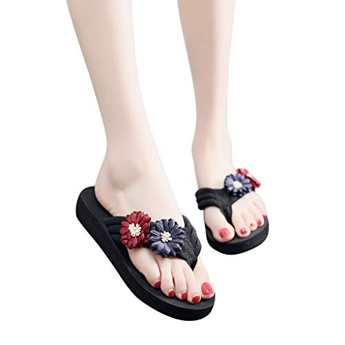 cc61327f2f3c Ljnuanrg Ladies Summer Flip Flops Slippers
