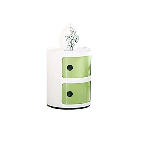 FJIWDTGYHFGT Simple Modern,Multi-Function Round Plastic Storage Cabinet Mini Bedside Cabinet Bedroom Corner Cabinet Locker-D ()