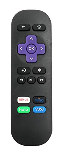 New IR Remote Control fit for Roku Streaming Express 1 2 3 4 3900RW 3910RW 4620RW 3700RW 3710RW 3710XB 3900XB 4620XB 4620R 3700R 3900R 4620XB 3050R 3700XB 2000C, NOT Support for any roku TV or Sticker