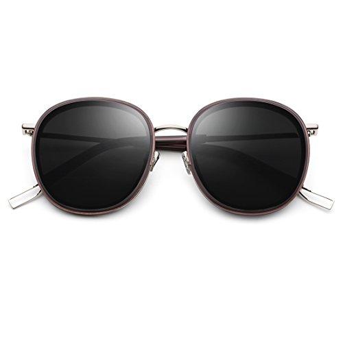 Neutral Lens Sol Polarizadas Gray Gafas Color Frame Silver TLMY Gold para Sol Frame Frame Lens Gafas Hombre Metal Gray de De UV XY1qnw7